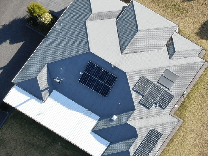 Solar Panels on Roof.
